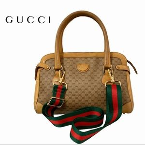 Vint GUCCI micro GG monogram Boston/satchel bag